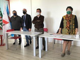segretari sindacati scuola (da sx) P.Raimondo, C.Riso, G. Fontana, A.Cozzo
