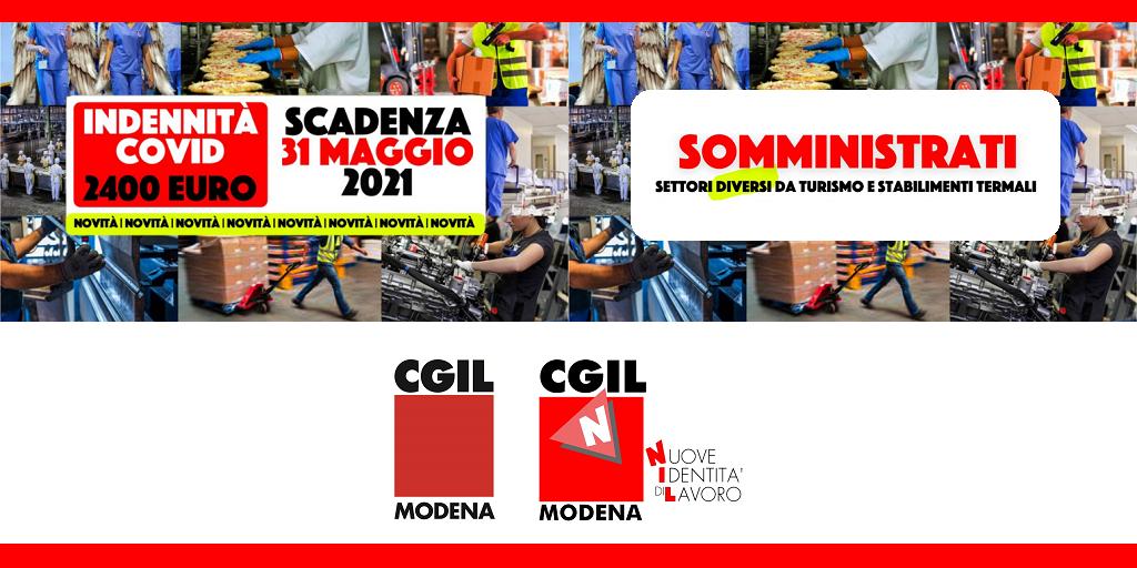 """Indennità Covid per Somministrati (ex Interinali) """"Decreto Sostegni"""""""