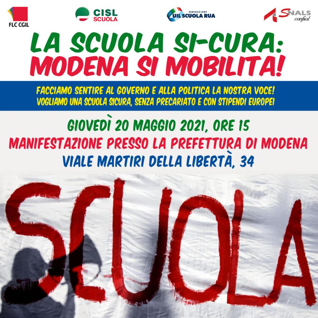 la scuola si cura modena si mobilita manifestazione prefettura_20 maggio 2021