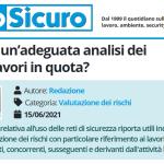 PuntoSicuro - Come fare un'adeguata analisi dei rischi dei lavori in quota?