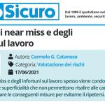 PuntoSicuro - L'analisi dei near miss e degli infortuni sul lavoro