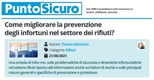 PuntoSicuro - Come migliorare la prevenzione degli infortuni nel settore dei rifiuti?