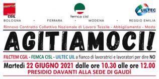 ccnl tessile abbigliamento moda - presidio Gaudì a Carpi (22/6/2021)
