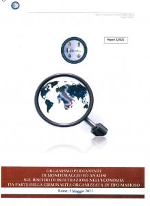 frontespizio report ministeriale infiltrazioni malavitose nell'imprenditoria, giu 2021