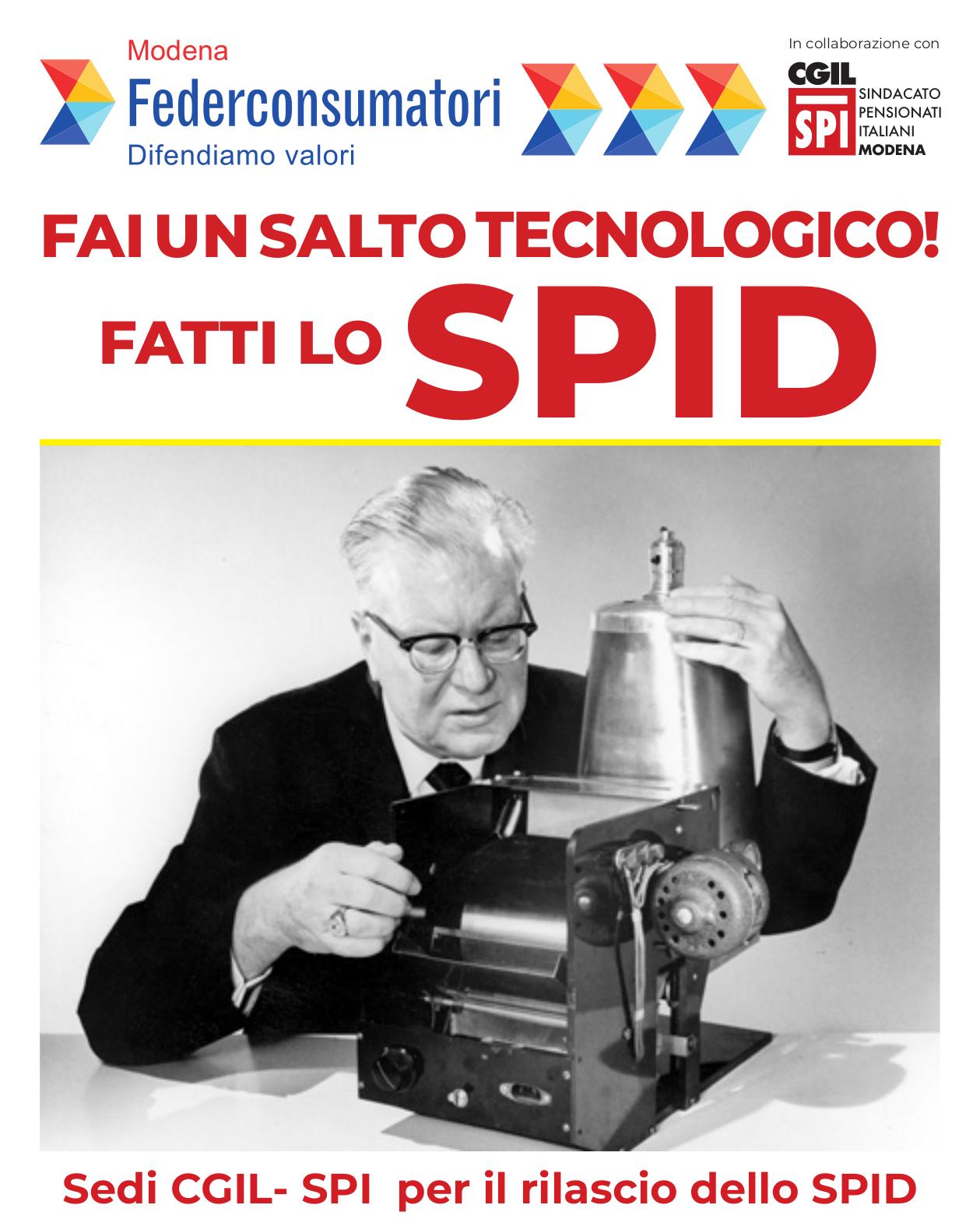 """Campagna """"Ti facciamo lo SPID"""" di Federconsumatori e Spi Cgil Modena"""
