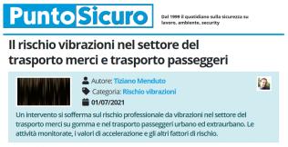PuntoSicuro - Il rischio vibrazioni nel settore del trasporto merci e trasporto passeggeri