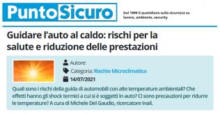 PuntoSicuro - Guidare l'auto al caldo: rischi per la salute e riduzione delle prestazioni
