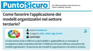 PuntoSicuro - Come favorire l'applicazione dei modelli organizzativi nel settore terziario?