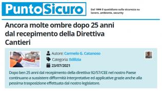 PuntoSicuro - Ancora molte ombre dopo 25 anni dal recepimento della Direttiva Cantieri
