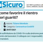 PuntoSicuro - COVID-19: come favorire il rientro dei lavoratori guariti?