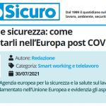 PuntoSicuro - Telelavoro e sicurezza: come regolamentarli nell'Europa post COVID-19
