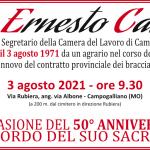 50° anniversario assassinio Ernesto Cattani - 3 agosto 2021
