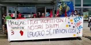 Sciopero area servizio Secchia Est, Maglione del Gruppo Sarni - 18/7/2021