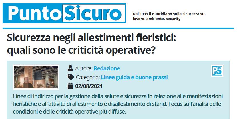 PuntoSicuro - Sicurezza negli allestimenti fieristici: quali sono le criticità operative?