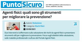 PuntoSicuro - Agenti fisici: quali sono gli strumenti per migliorare la prevenzione?