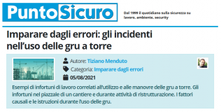 PuntoSicuro - Imparare dagli errori: gli incidenti nell'uso delle gru a torre