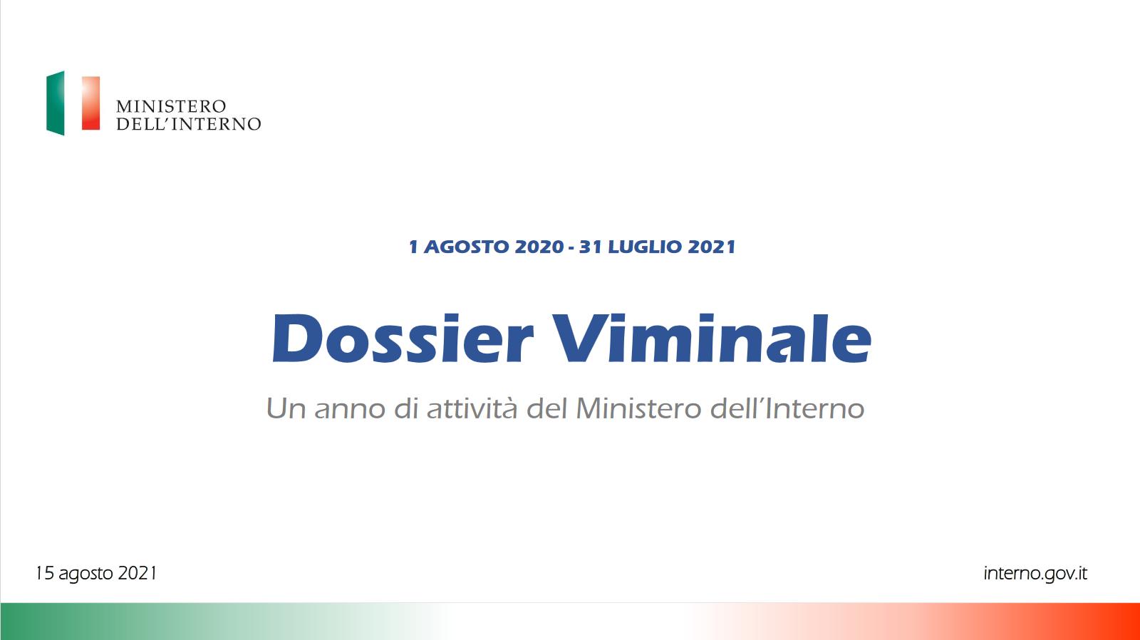 Dossier Viminale - Ferragosto 2021