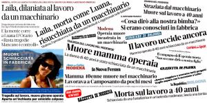 Infortunio mortale alla Bombonette: ora basta. La Cgil Modena si mobilita