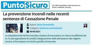 PuntoSicuro - La prevenzione incendi nelle recenti sentenze di Cassazione Penale