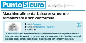 PuntoSicuro - Macchine alimentari: sicurezza, norme armonizzate e non conformità