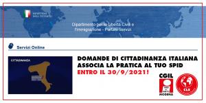 Associare pratica di cittadinanza con SPID. Area Diritti - Ufficio Migranti Cgil Modena