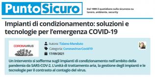 PuntoSicuro - Impianti di condizionamento: soluzioni e tecnologie per l'emergenza COVID-19