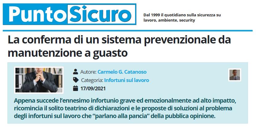 PuntoSicuro - La conferma di un sistema prevenzionale da manutenzione a guasto