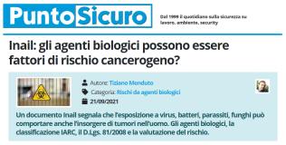 PuntoSicuro - Inail: gli agenti biologici possono essere fattori di rischio cancerogeno?