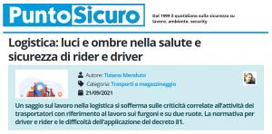 PuntoSicuro - Logistica: luci e ombre nella salute e sicurezza di rider e driver