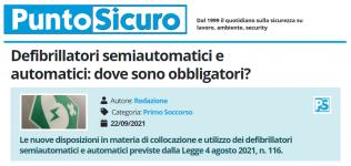 PuntoSicuro - Defibrillatori semiautomatici e automatici: dove sono obbligatori?