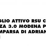 CORDOGLIO ATTIVO RSU COOP ALLEANZA 3.0 MODENA PER LA SCOMPARSA DI ADRIANO TURRINI