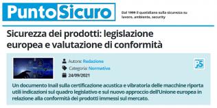 PuntoSicuro - Sicurezza dei prodotti: legislazione europea e valutazione di conformità