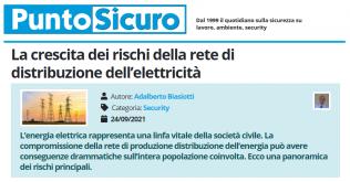 PuntoSicuro - La crescita dei rischi della rete di distribuzione dell'elettricità