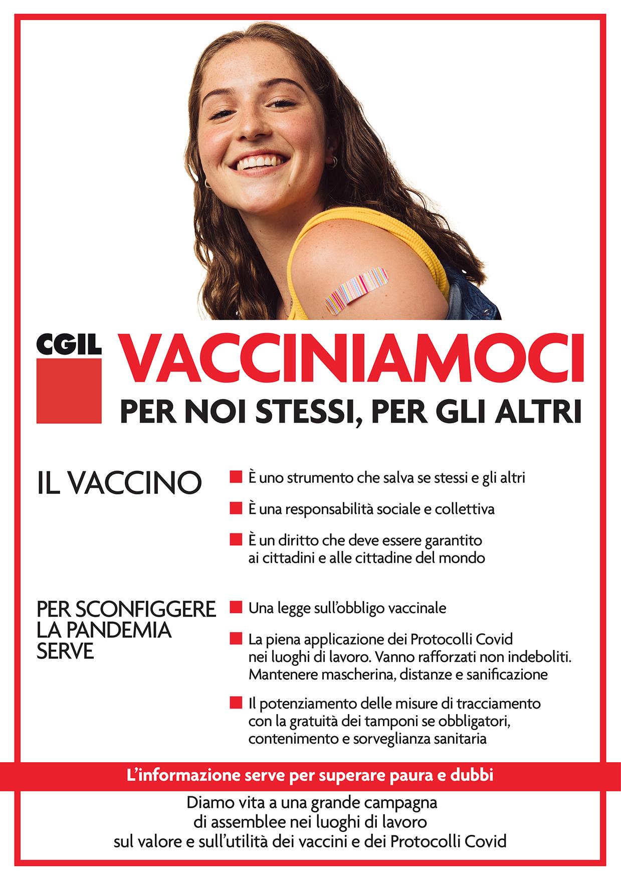 Vacciniamoci per noi stessi e per gli altri (Cgil)