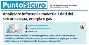 PuntoSicuro - Analizzare infortuni e malattie: i dati del settore acqua, energia e gas
