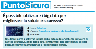 PuntoSicuro - È possibile utilizzare i big data per migliorare la salute e sicurezza?