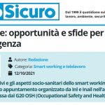 PuntoSicuro - Lavoro agile: opportunità e sfide per il post emergenza