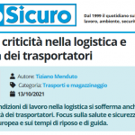 PuntoSicuro - Sicurezza e criticità nella logistica e nell'attività dei trasportatori