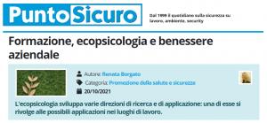 PuntoSicuro - Formazione, ecopsicologia e benessere aziendale