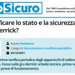 PuntoSicuro - Come verificare lo stato e la sicurezza delle gru derrick?