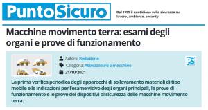 PuntoSicuro - Macchine movimento terra: esami degli organi e prove di funzionamento