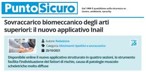 PuntoSicuro - Sovraccarico biomeccanico degli arti superiori: il nuovo applicativo Inail