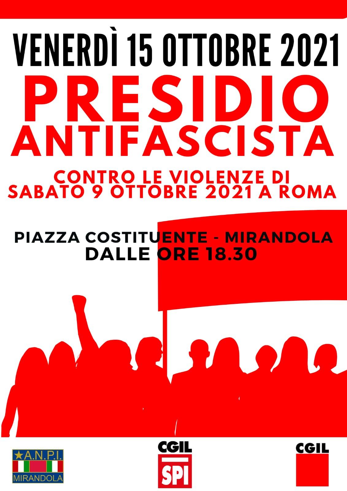 presidio antifascista Mirandola