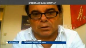 Cesare Pizzolla Tv Qui Green Pass 21.10.21