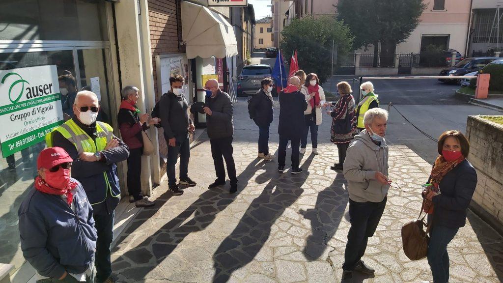 presidio antifascista Cgil Vignola 9.10.21