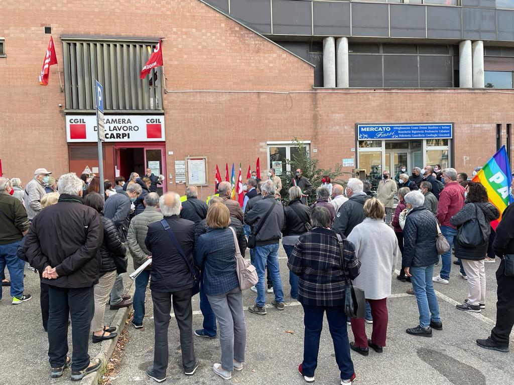presidio antifascista Cgil Carpi 9.10.21